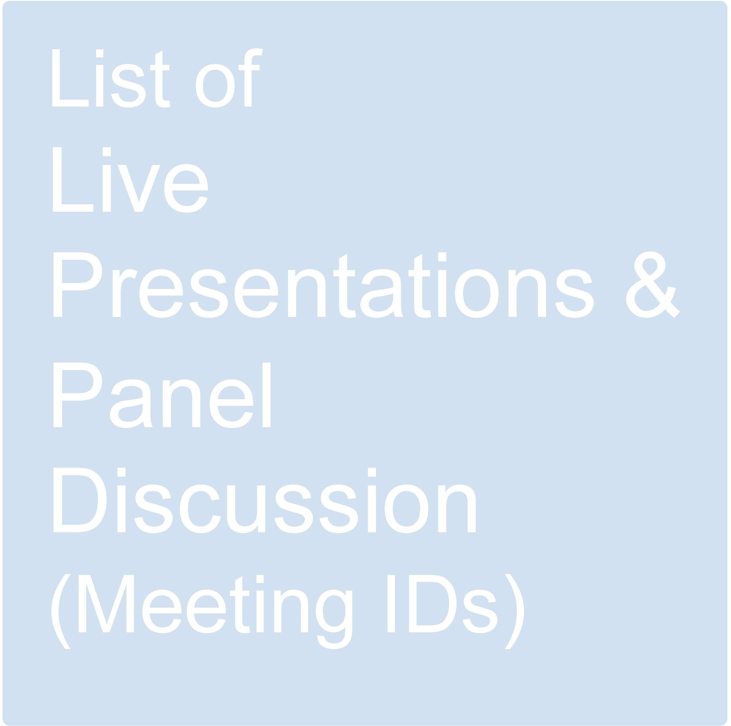 List Live Presentations